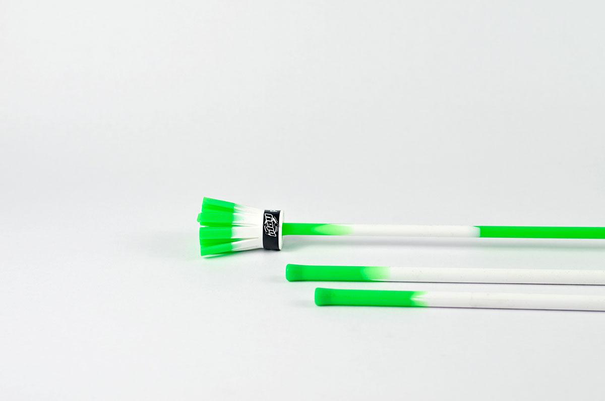 Flowerstick, weiß-grün
